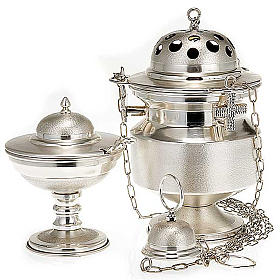 Censer and boat satin silver s1