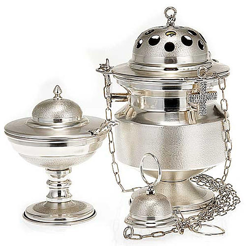 Censer and boat satin silver 1