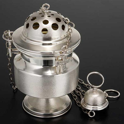 Censer and boat satin silver 2
