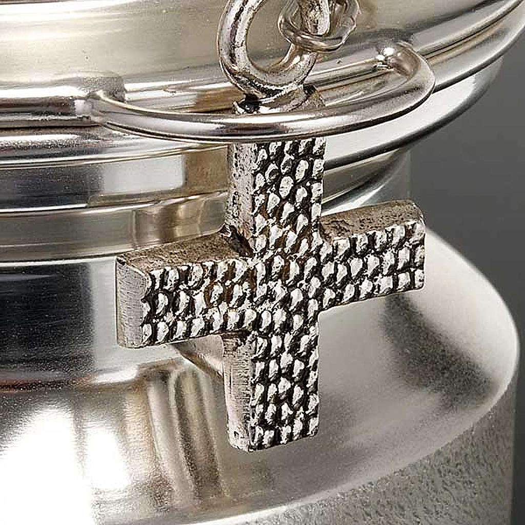Censer and boat in satin silver 3