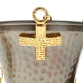 Encensoir et navette en bronze repoussés s3