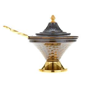 Encensoir et navette en bronze repoussés s5