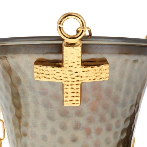 Turibolo e navetta sbalzato in bronzo 3