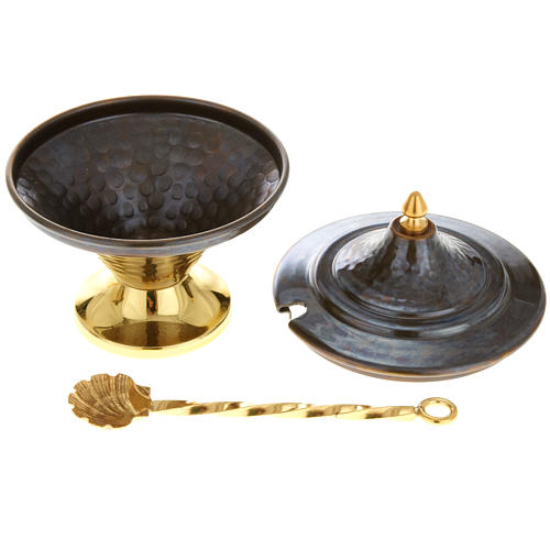 Thurible and boat in embossed bronze 6