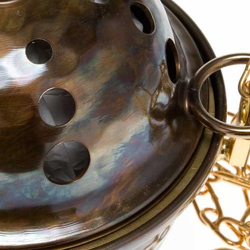 Encensoir et navette repoussés en laiton 2