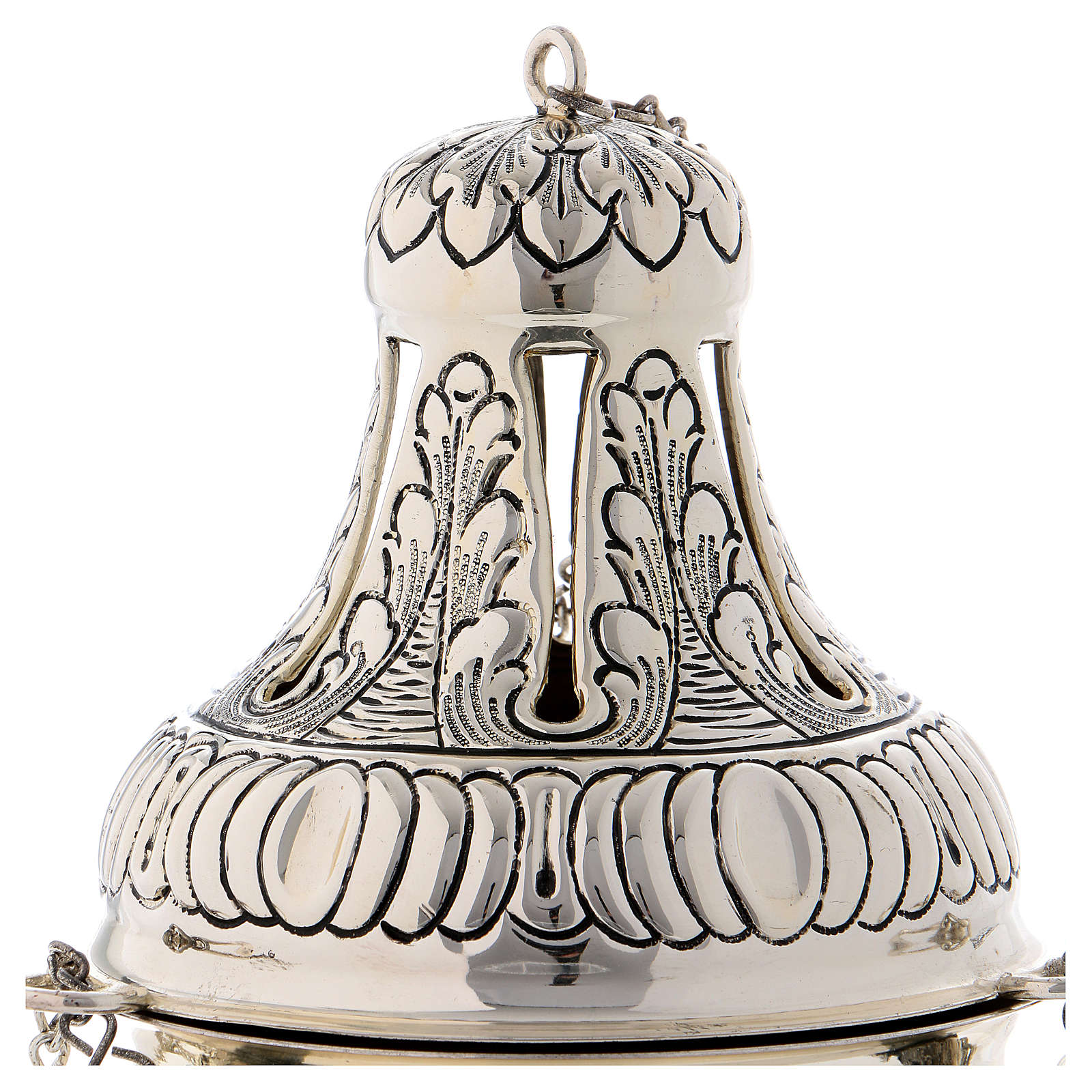Censer and boat in silver plated 3