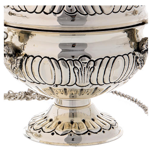 Censer and boat in silver plated 4