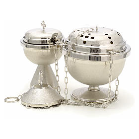 Censer and boat in nickel plated brass s2