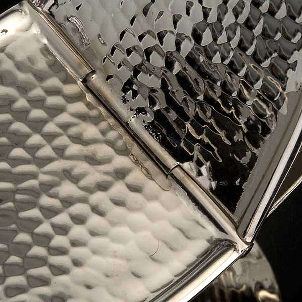 Turibolo e navetta ottone nichelato liscio 3