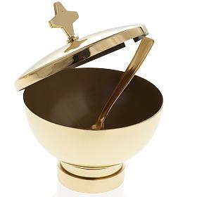 Encensoir et navette laiton doré et nikelé s7