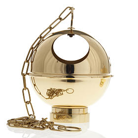 Encensoir et navette laiton doré et nikelé s9