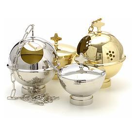 Encensoir et navette laiton doré et nikelé s11