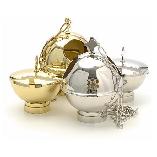 Encensoir et navette laiton doré et nikelé 13