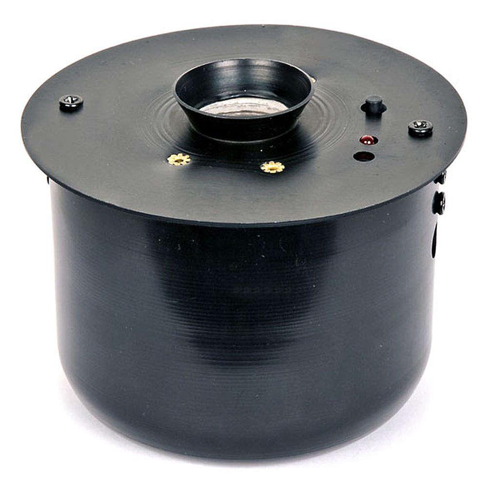Incensiere elettronico nero per turibolo 8.5x8.5 cm 3