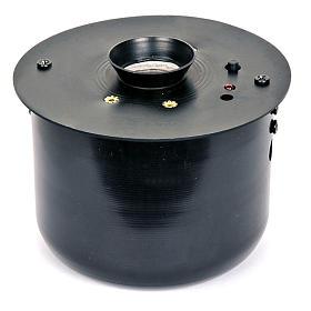 Incensiere elettronico nero per turibolo 8.5x8.5 cm s1