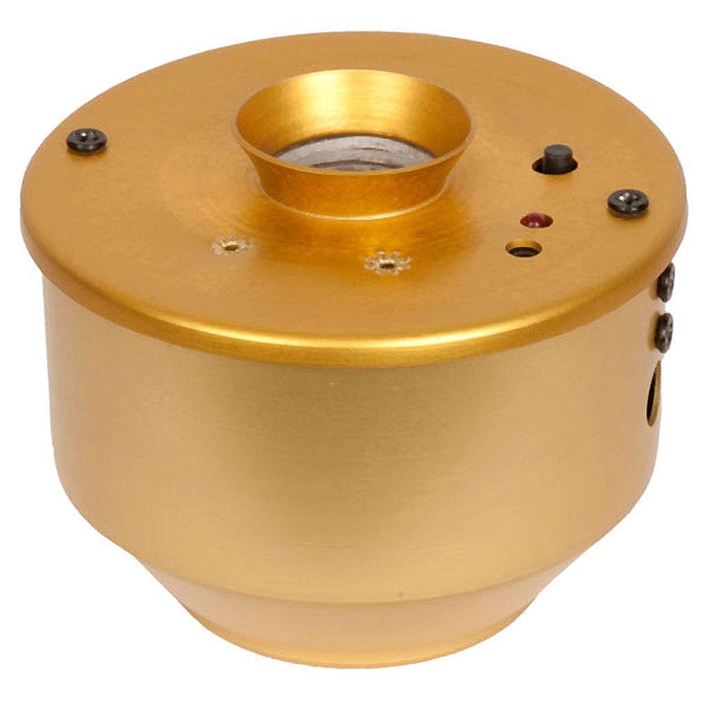 Incensiere elettronico dorato per turibolo 7X7.5 cm 3