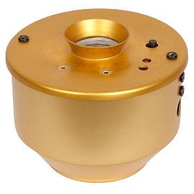 Incensiere elettronico dorato per turibolo 7X7.5 cm s1