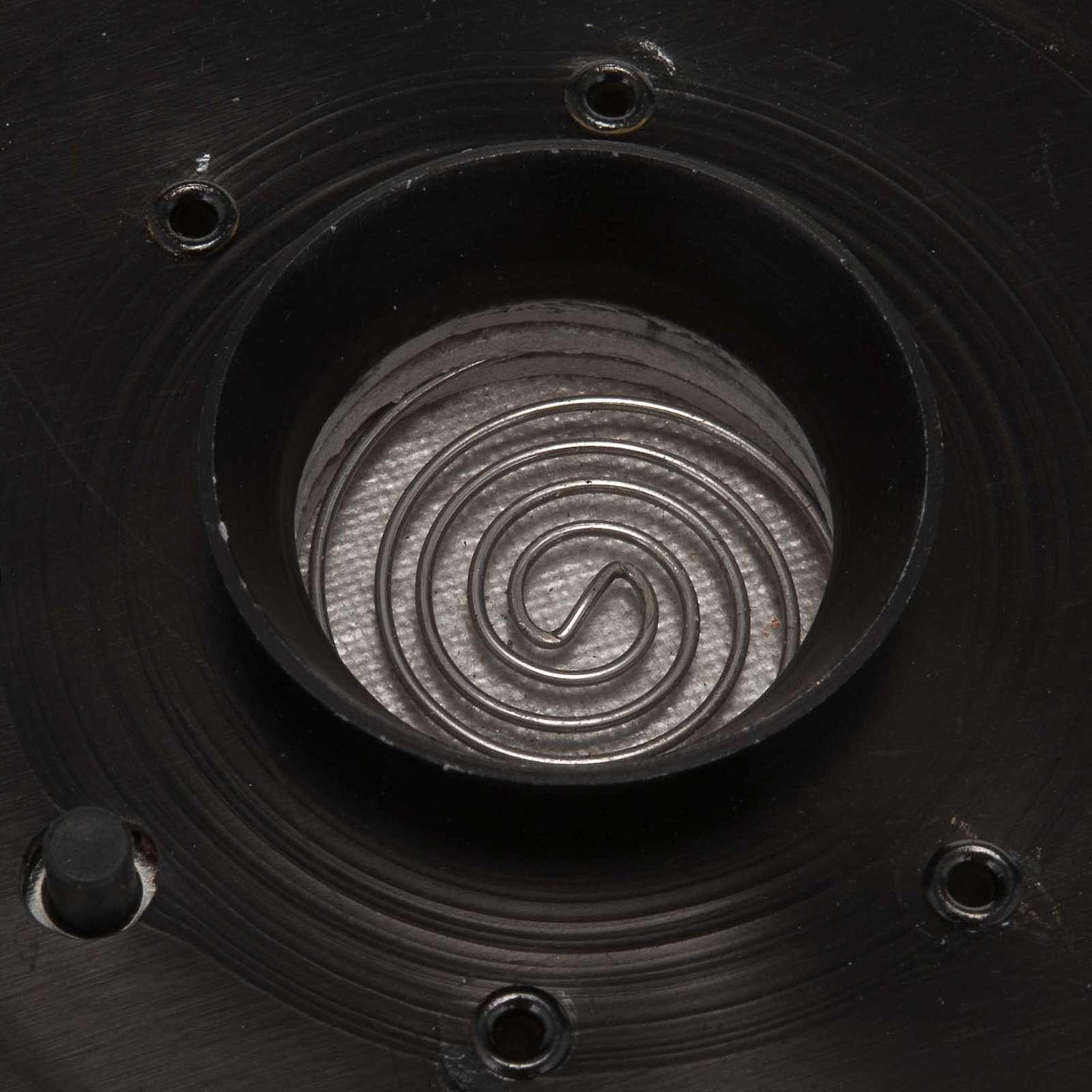 Incensario electrónico negro  7.5X7.5cm 3