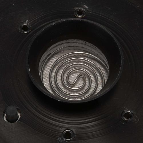 Incensario electrónico negro  7.5X7.5cm 2