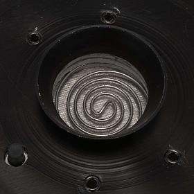 Incensiere elettronico nero per turibolo 7.5X7.5 cm s2