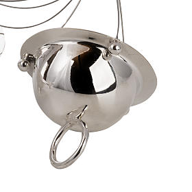 Cone shaped thurible and boat with steel chains s3