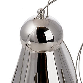 Cone shaped thurible and boat with steel chains s4