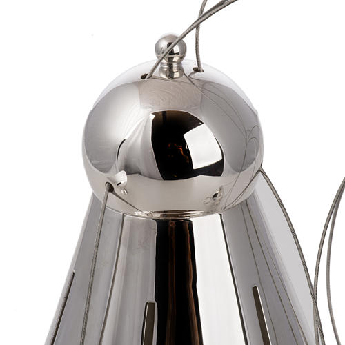 Cone shaped thurible and boat with steel chains 4