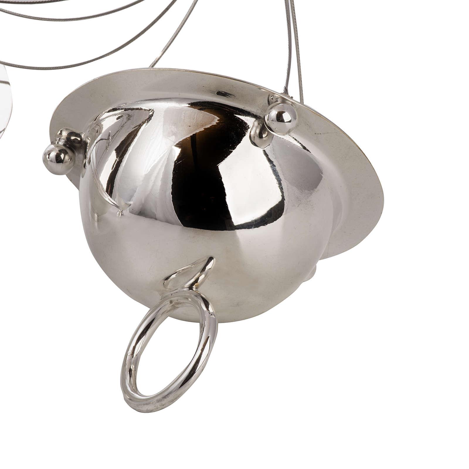 Encensoir conique et navette laiton câbles acier 3