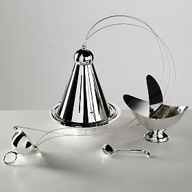 Encensoir conique et navette laiton câbles acier s1