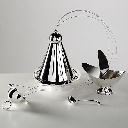 Encensoir conique et navette laiton câbles acier 1