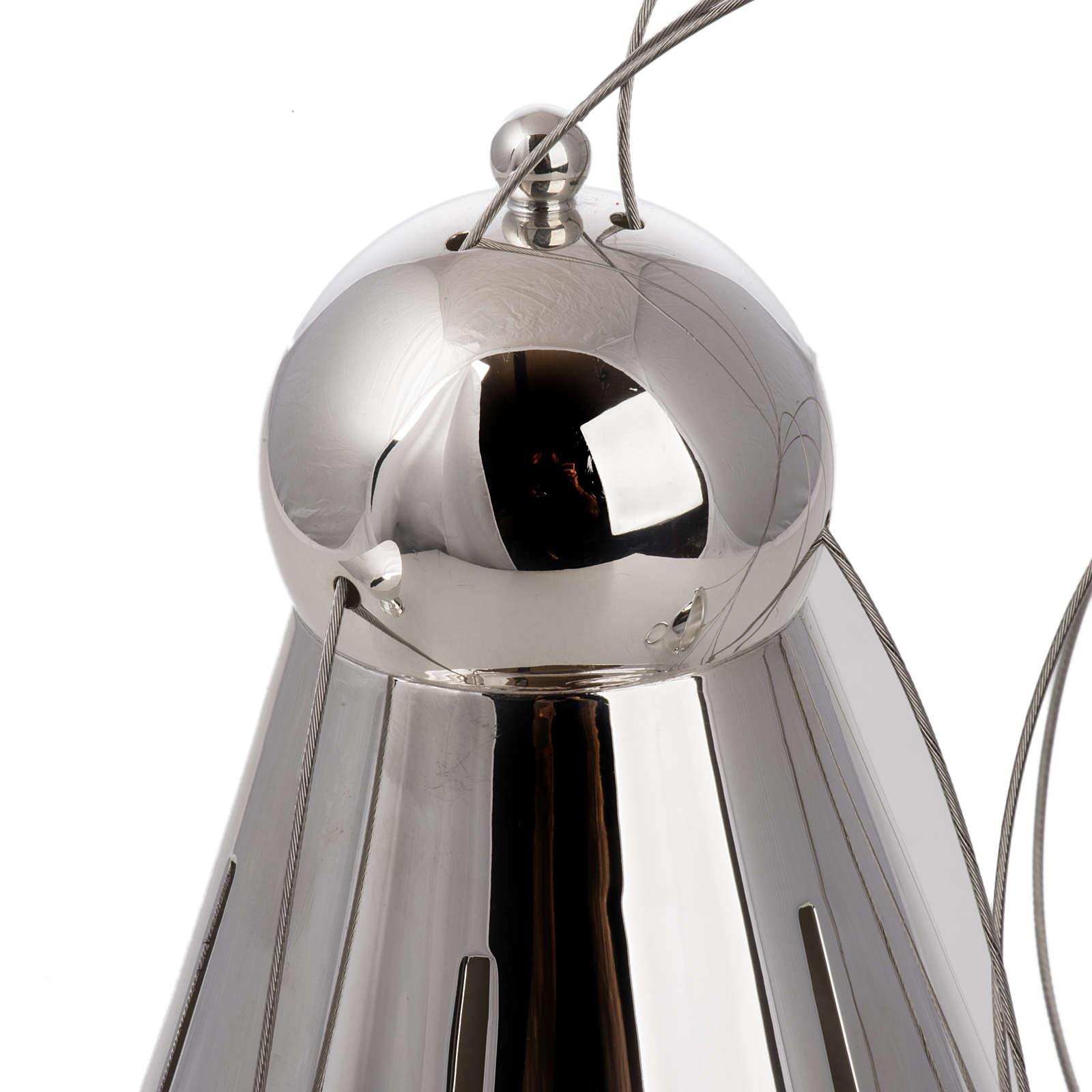 Cone shaped thurible and boat with steel chains 3