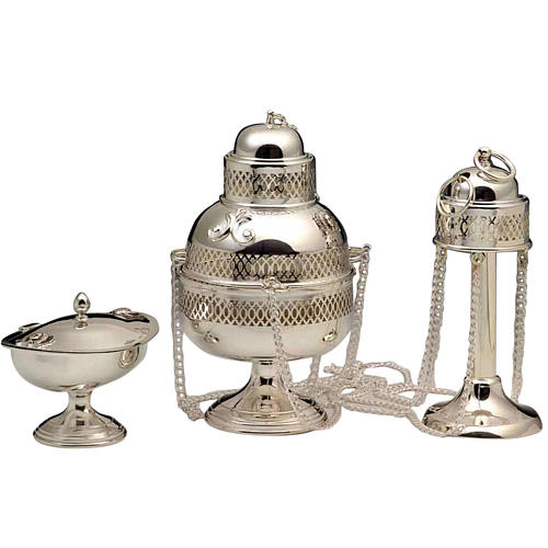 Thurible and Boat in 800 silver 1