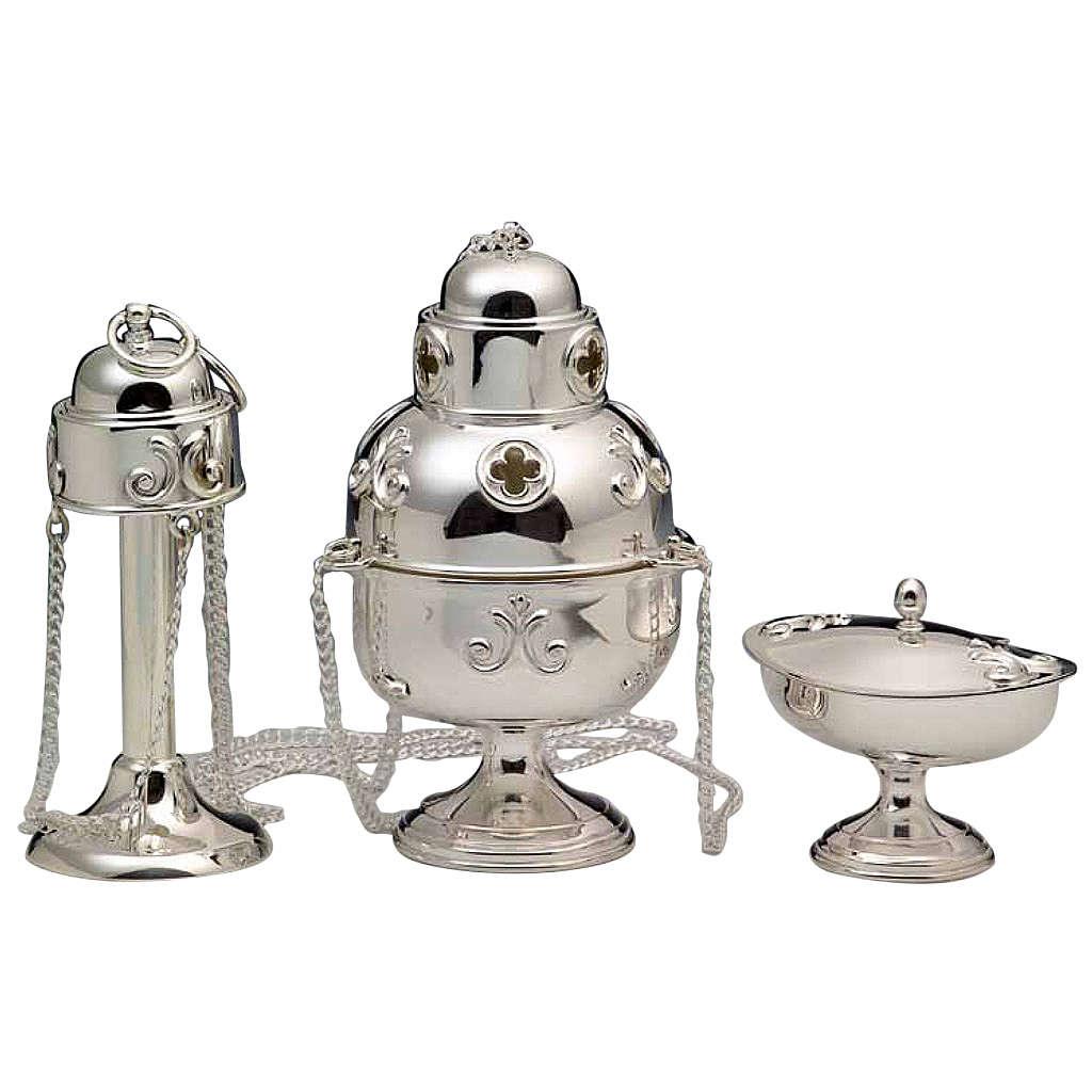 Turibolo e navetta argento 800 3