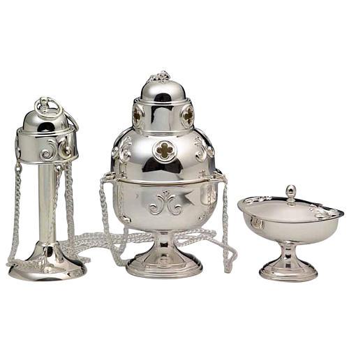 Turibolo e navetta argento 800 1
