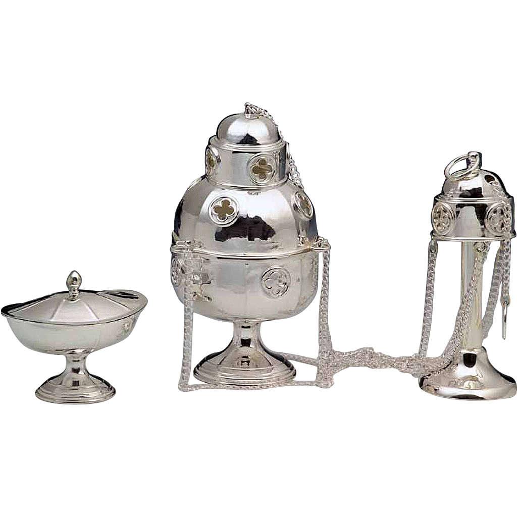 Turibolo con navicella argento 800 3