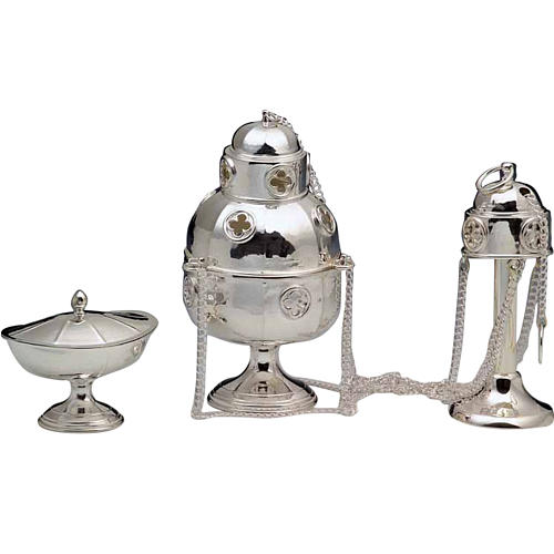 Thurible and Boat made of silver 800 1
