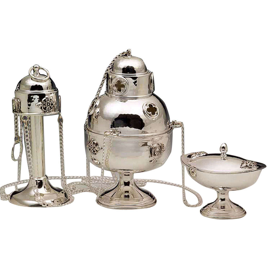Thurible and Boat in silver 800 3