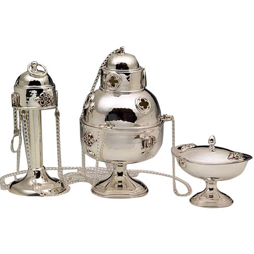 Thurible and Boat in silver 800 1