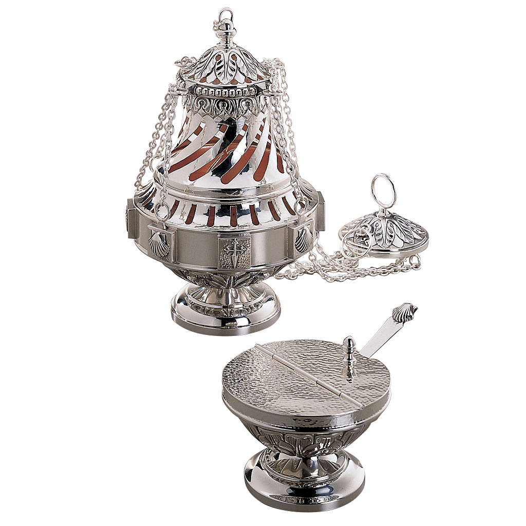 Thurible and boat set by Molina in silver brass 3