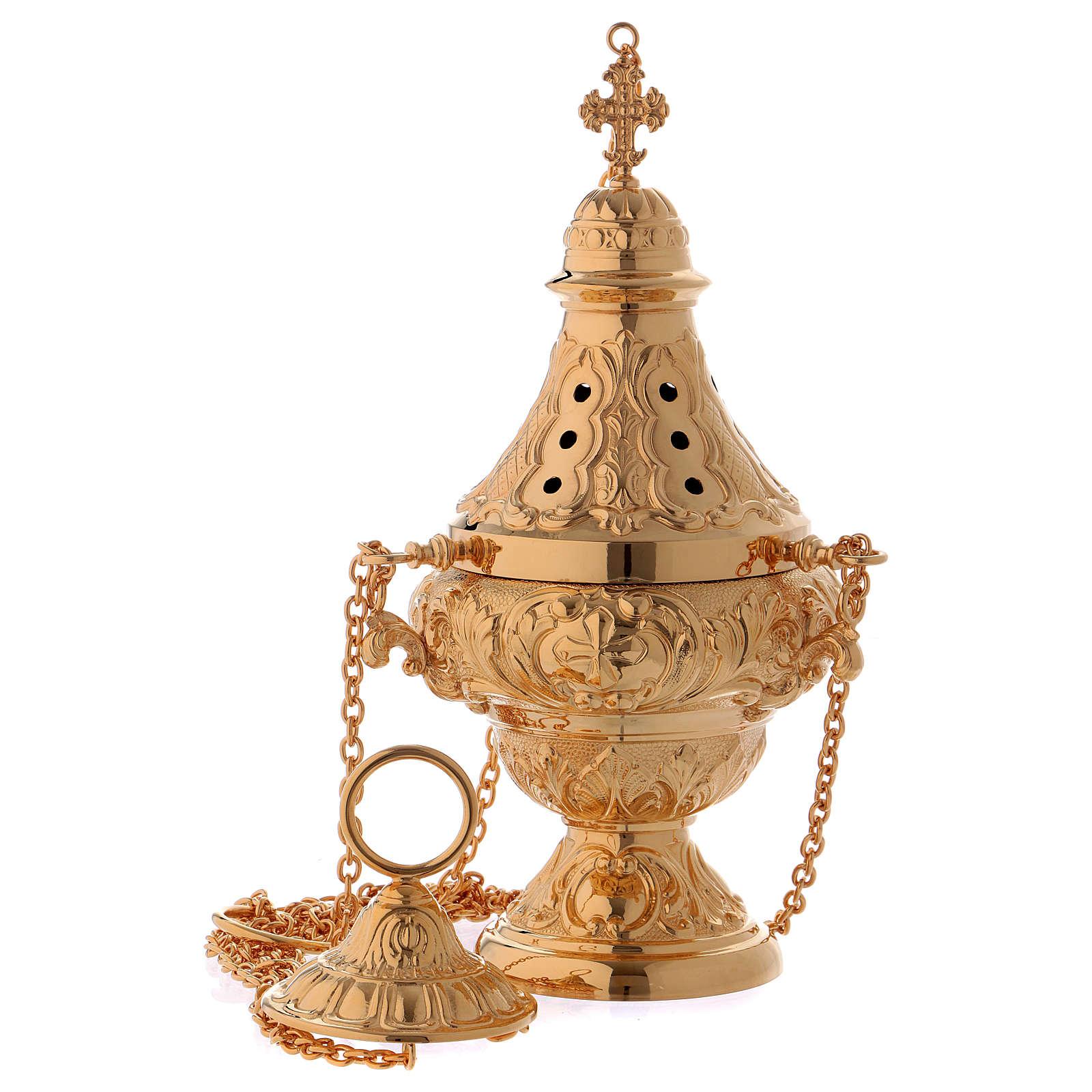 Set encensoir navette Molina laiton doré 3