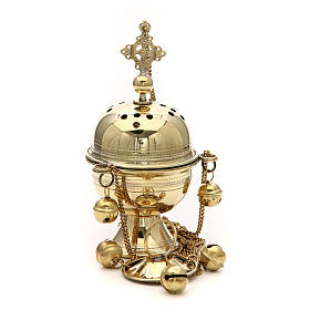 Turibolo ottone fatto a mano h 20 cm Bethléem s2