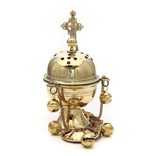Turibolo ottone fatto a mano h 20 cm Bethléem 2