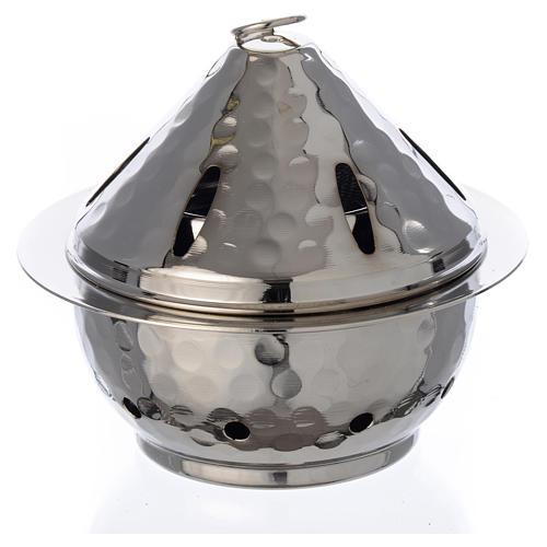 Encensoir à flamme en laiton nickelé 1