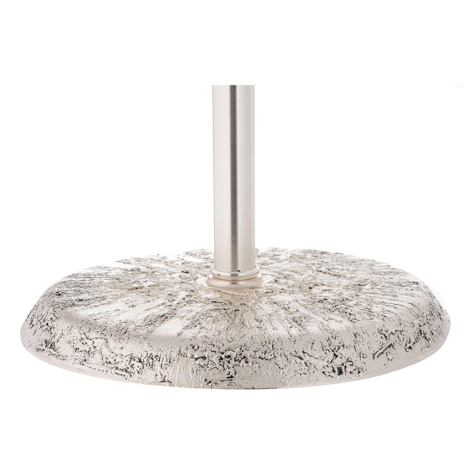 Portaturibolo in ottone fuso argento 118 cm 3