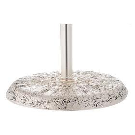 Portaturibolo in ottone fuso argento 118 cm s7