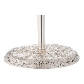 Portaturibolo in ottone fuso argento 118 cm s3