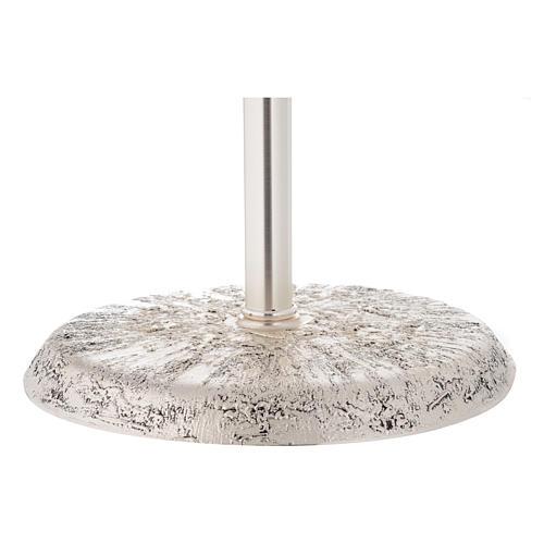 Portaturibolo in ottone fuso argento 118 cm 7