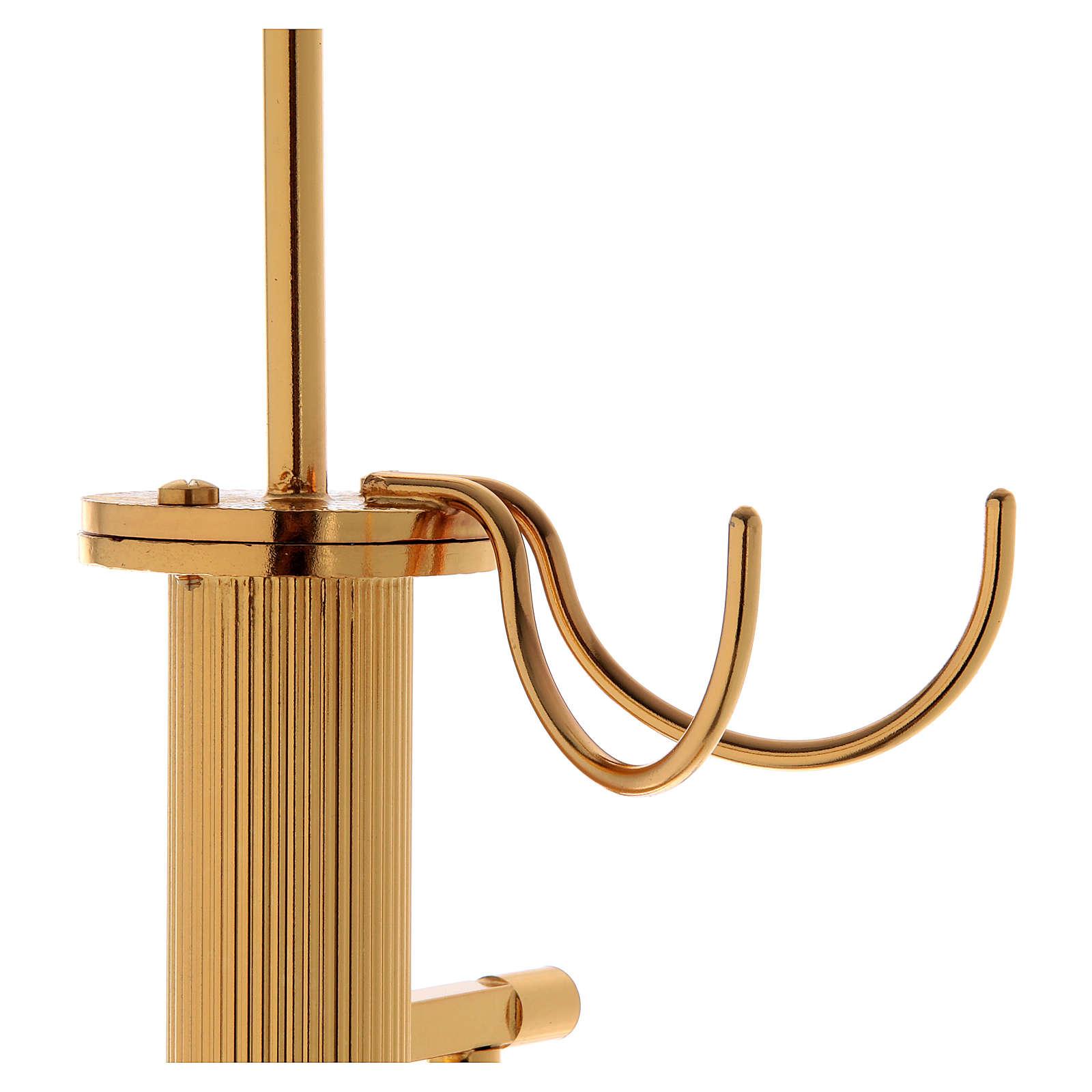 Censer holder in golden brass 3