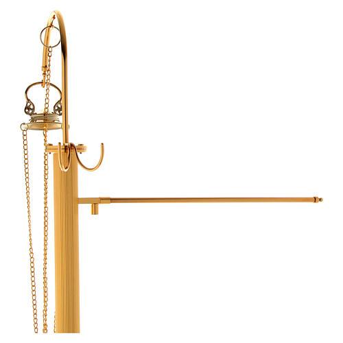 Censer holder in golden brass 5