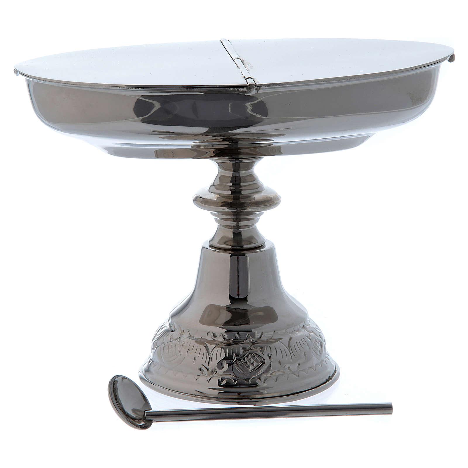 Navetta classica con cucchiaino e turibolo nickel 3